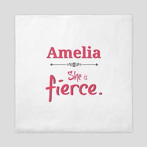 Amelia is fierce Queen Duvet