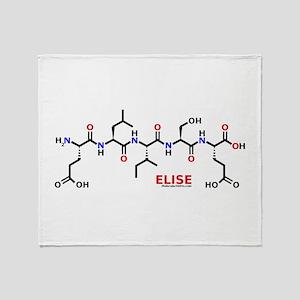 Elise molecularshirts.com Throw Blanket