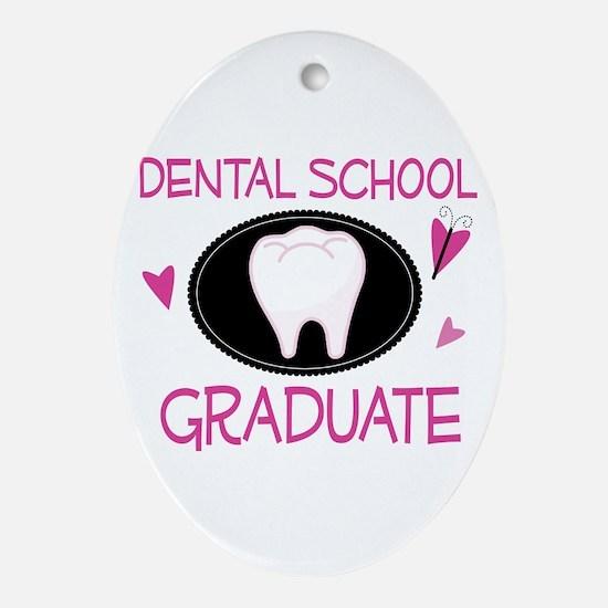 Dental School Graduate Ornament (Oval)