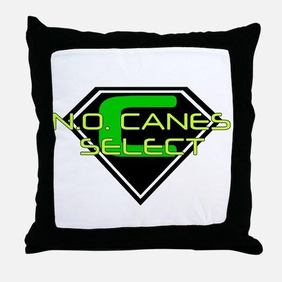SUPERCANES SELECT Throw Pillow