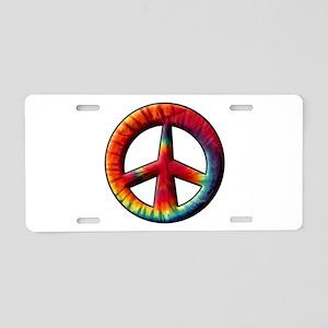 Tye Dyed Aluminum License Plate