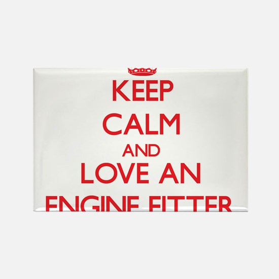 Keep Calm and Love an Engine Fitter Magnets