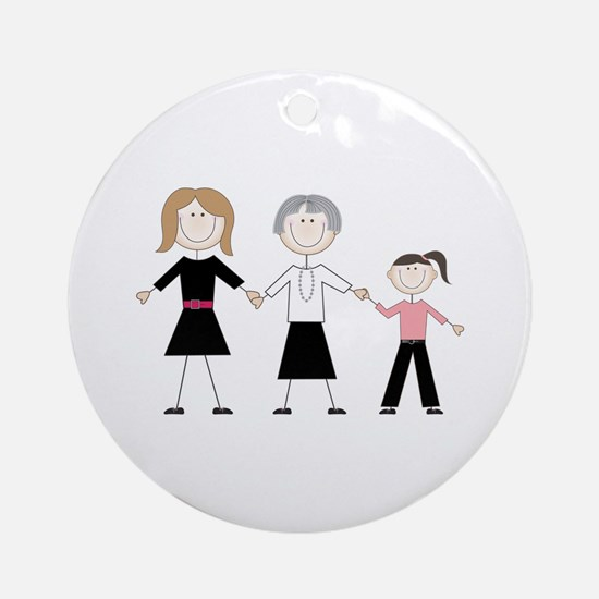 Female Generations Ornament (Round)