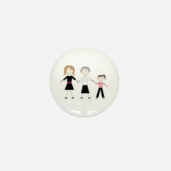 Female Generations Mini Button