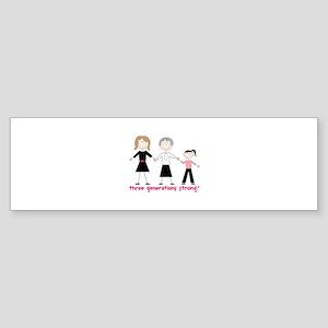 Three Generations Strong Sticker (Bumper)