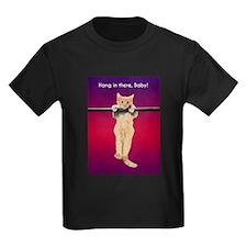 Hang In There Baby Kitten Kids Dark T-Shirt