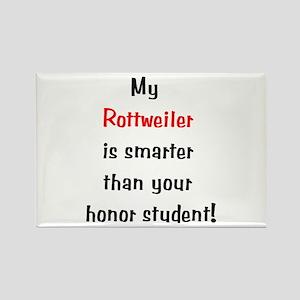 My Rottweiler is smarter... Rectangle Magnet