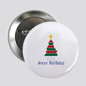"Jesus Birthday 2.25"" Button"