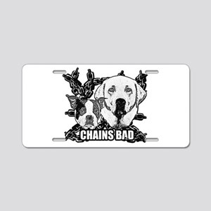 Chains Bad Aluminum License Plate
