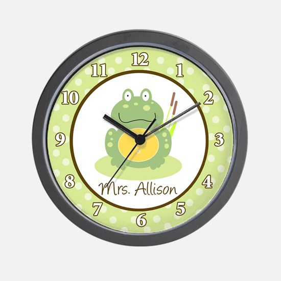 Freddy The Frog Clock - Mrs. Allison Wall Clock