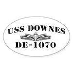 USS DOWNES Sticker (Oval)