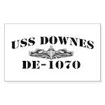 USS DOWNES Sticker (Rectangle)