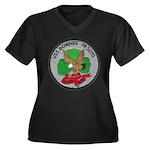 USS DOWNES Women's Plus Size V-Neck Dark T-Shirt
