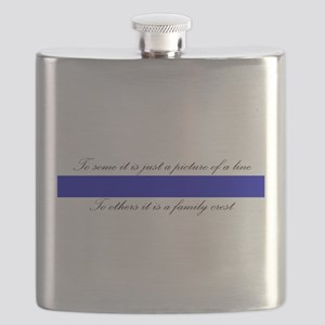 LEO Family Crest Flask