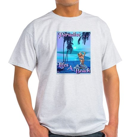 """Paradise"" Ash Grey T-Shirt"