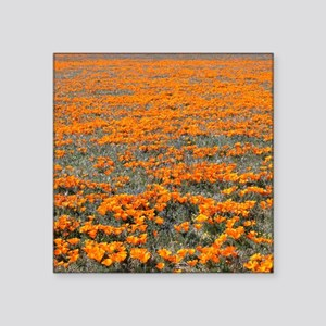 """Poppies Forever Square Sticker 3"""" x 3"""""""