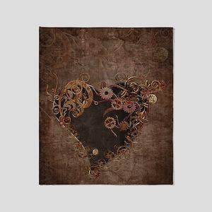 Steampunk Heart Throw Blanket