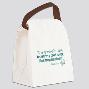 Alices Advice Canvas Lunch Bag