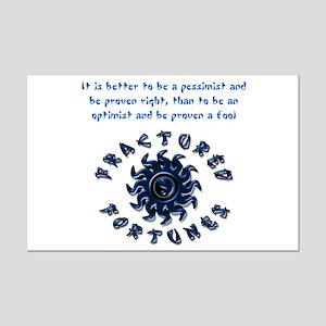 Pessimist (Blue) Mini Poster Print