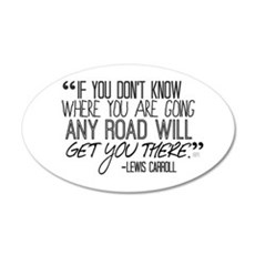Any Road Lewis Carroll Wall Decal