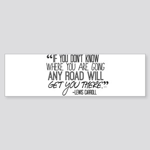 Any Road Lewis Carroll Sticker (Bumper)
