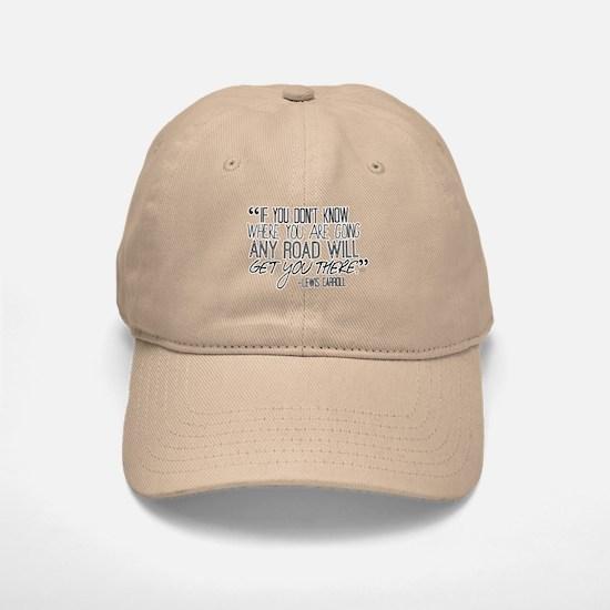 Any Road Lewis Carroll Baseball Baseball Cap