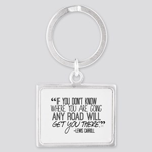Any Road Lewis Carroll Landscape Keychain
