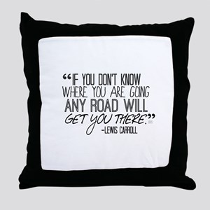 Any Road Lewis Carroll Throw Pillow