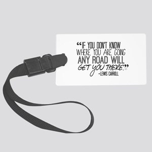 Any Road Lewis Carroll Large Luggage Tag