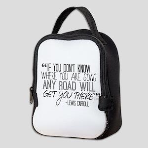 Any Road Lewis Carroll Neoprene Lunch Bag