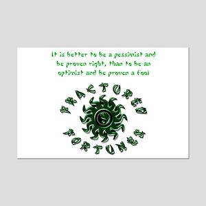 Pessimist (Green) Mini Poster Print