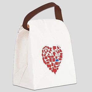 Kansas Heart Canvas Lunch Bag