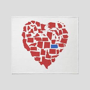 Kansas Heart Throw Blanket