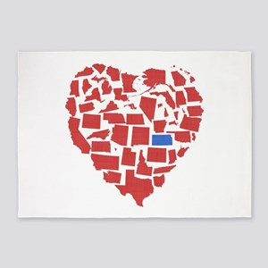 Kansas Heart 5'x7'Area Rug