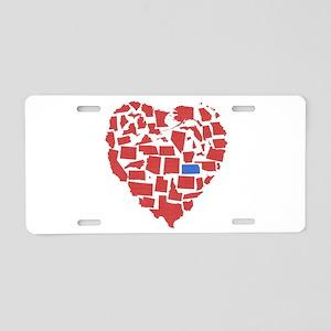 Kansas Heart Aluminum License Plate