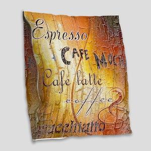 Coffee Burlap Throw Pillow