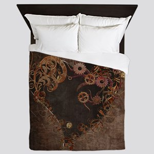 Steampunk Heart Queen Duvet