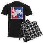 Red White and Blue Snowmobiler Men's Dark Pajamas