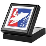 Red White Snowmobile Keepsake Box