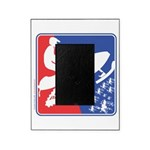 Red White and Blue Snowmobiler Picture Frame