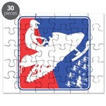 Red White and Blue Snowmobiler Puzzle