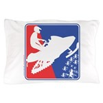 Red White and Blue Snowmobiler Pillow Case