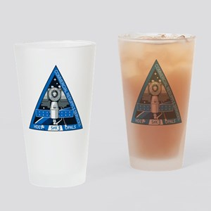 SpX-3 Logo Drinking Glass
