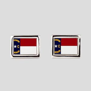 North Carolina State Flag2 Rectangular Cufflinks