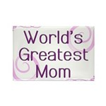 World's Greatest Mom Rectangle Magnet (100 pack)