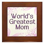 World's Greatest Mom Framed Tile