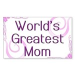 World's Greatest Mom Sticker (Rectangle)
