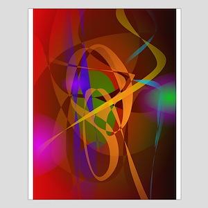 Luminous Brown Digital Abstract Art Posters