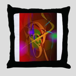 Luminous Brown Digital Abstract Art Throw Pillow