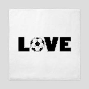 Soccer Love Queen Duvet